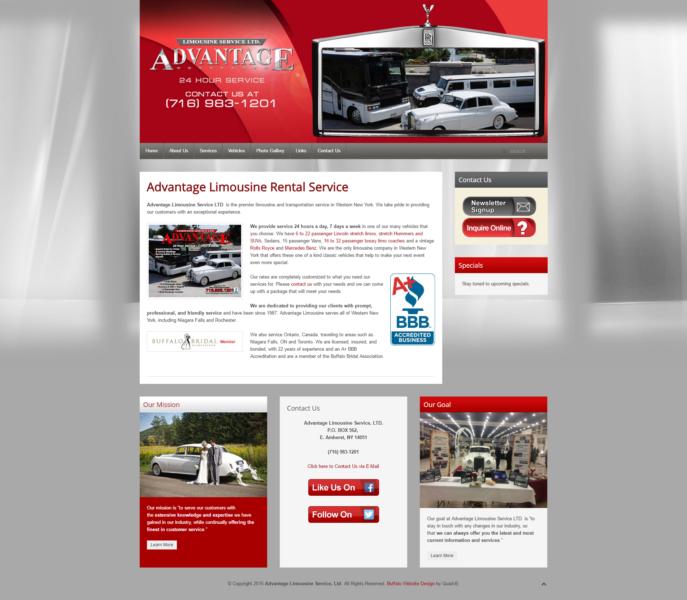 Limousine Rental Service Website