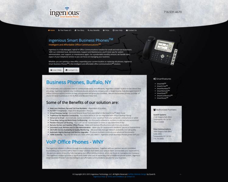 Ingenious Phone Company Website