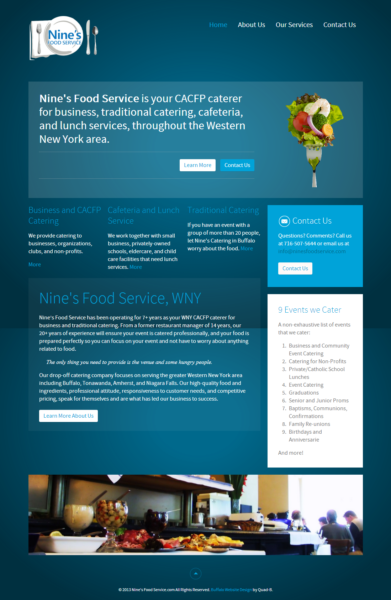 Food Service/Catering Company Website