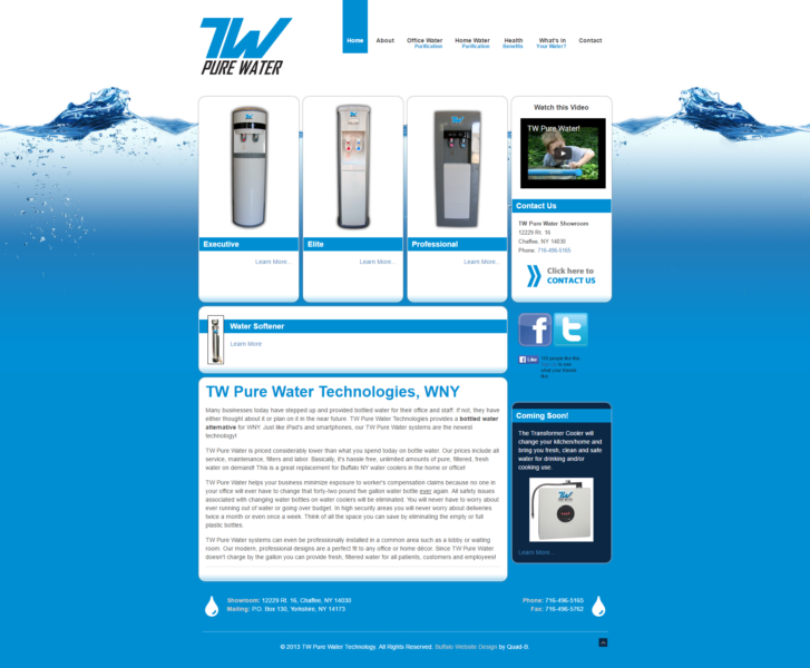 Water Filtration Company Website