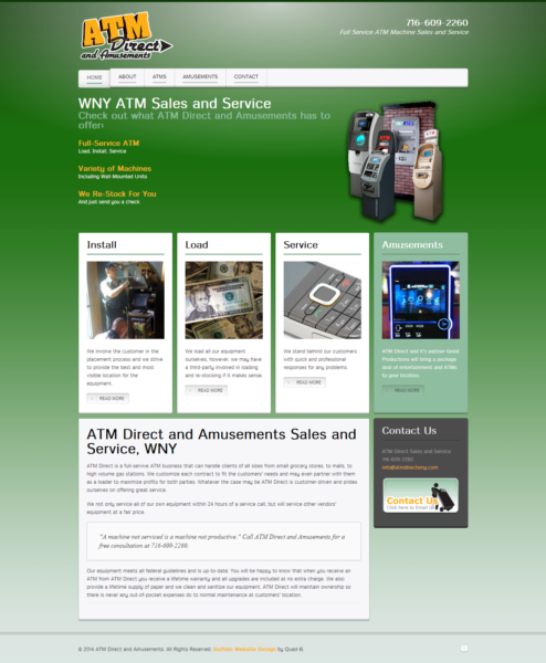 ATM Sales and Service Company Website