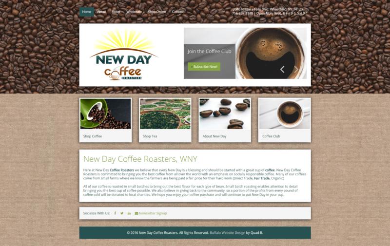 Coffee Sales Company Website