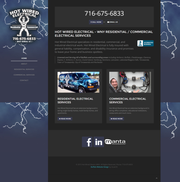 Electrical Contractor Company Website