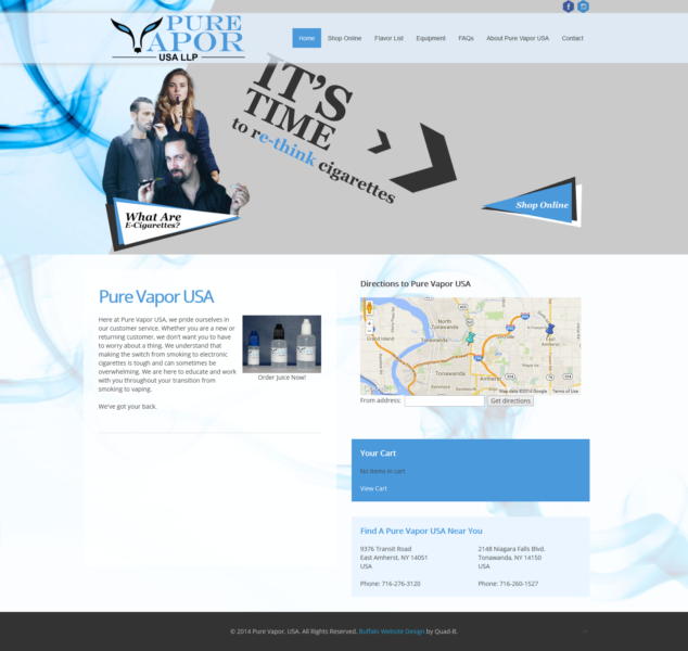 E-Cigarette Company Website