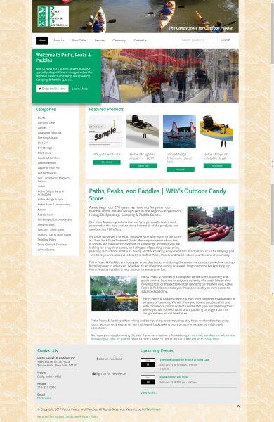 Outdoor Activities Hiking, Kayaking, Adventure Ecommerce Site