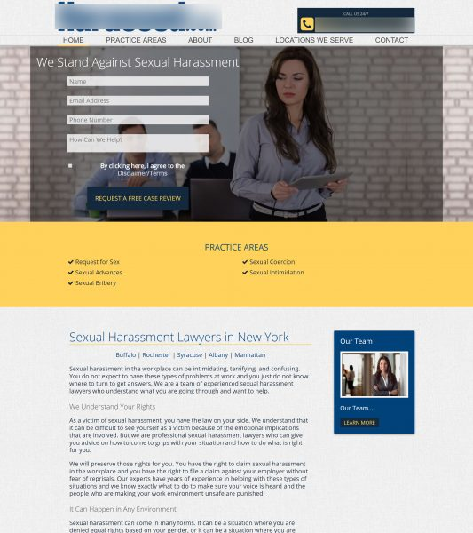 Harassment Lawyer Website