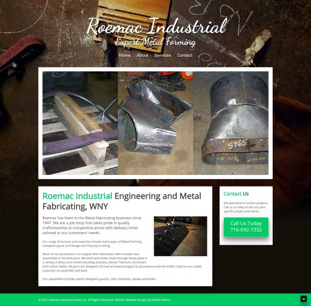 Industrial Machining Company Website