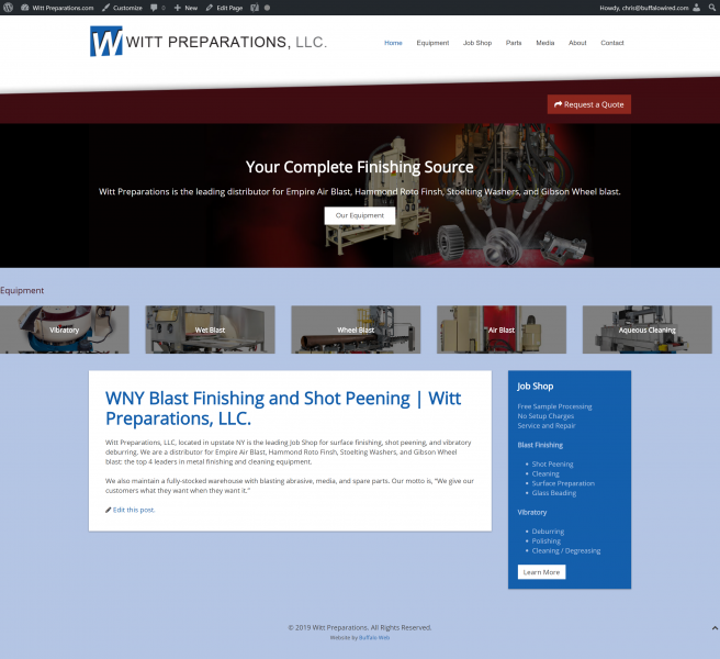 Industrial Manufacturing Company Website